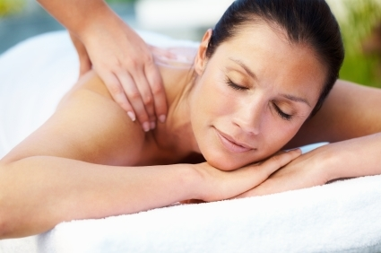 Client Receiving Aromatherapy Massage